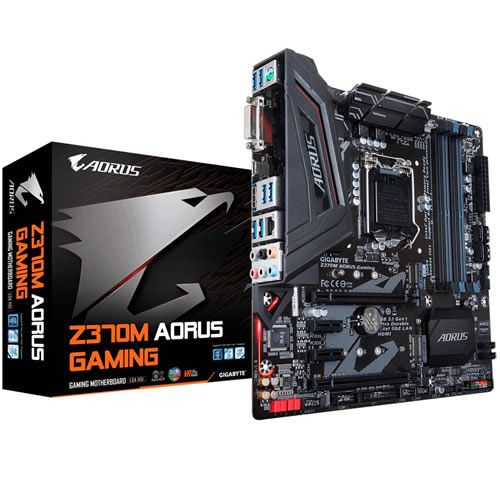 Placa Mãe 1151 Intel GigaByte Z370M Aorus Gaming DDR4