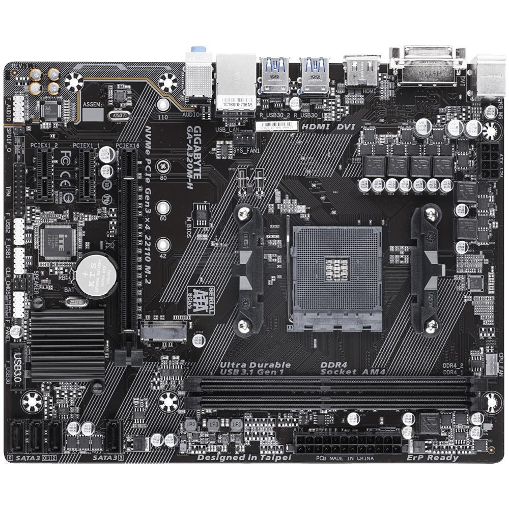 PLACA MAE AM4 A320M-H M-ATX DDR4 GIGABYTE