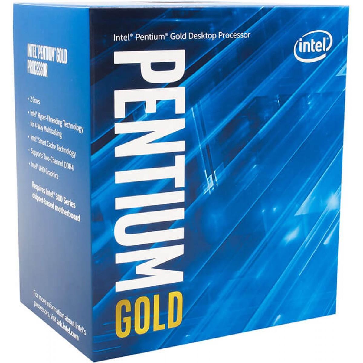 PROCESSADOR 1200 PENTIUM GOLD G6400 COMET LAKE 4.0 GHZ 4MB  BX80701G6400 INTEL