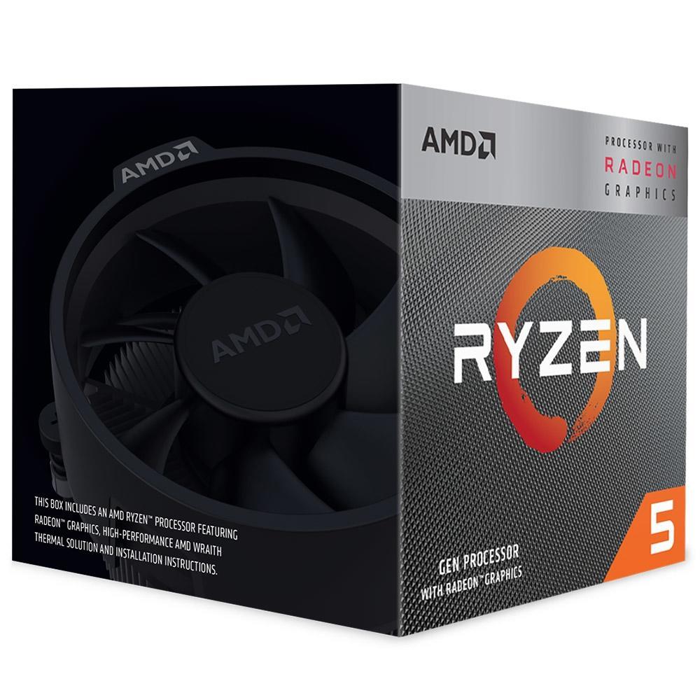 Processador AMD Ryzen 5 3400G 3.7GHz Cache 6MB AM4 YD3400C5FHBOX
