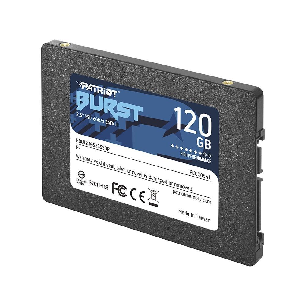 SSD 2.5 SATA3 120GB BURST PBU120GS25SSDR PATRIOT