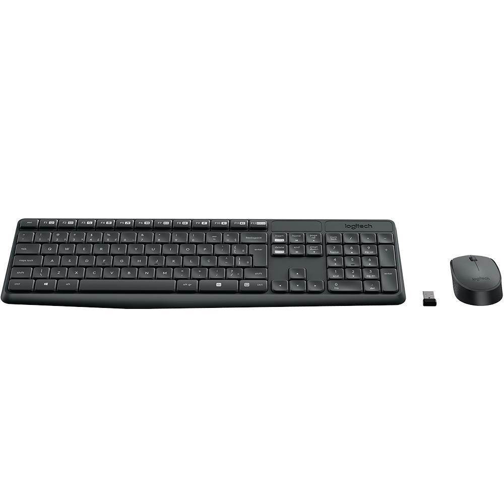 Teclado e Mouse Logitech MK235 Sem Fio ABNT2 920-007903