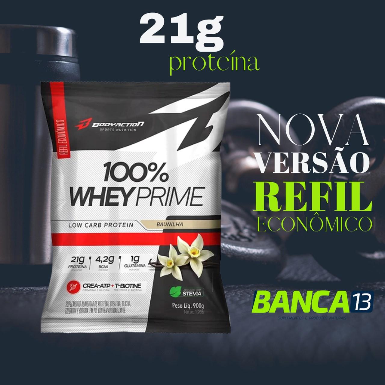 100% Whey Prime 900g refil - Bodyaction (sabor a combinar)
