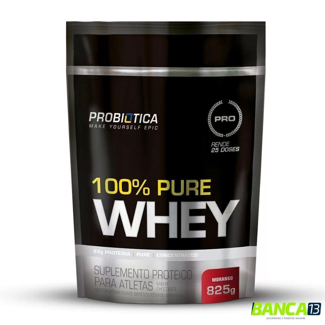 100% Whey Protein Refil - 825g - Probiótica = SABOR A COMBINAR