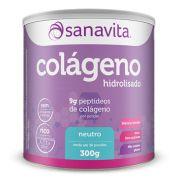 Colágeno Hidrolisado Neutro - 300g - Sanavita