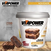 PASTA DE AMENDOIM  BROWNIE 1KG VITAPOWER