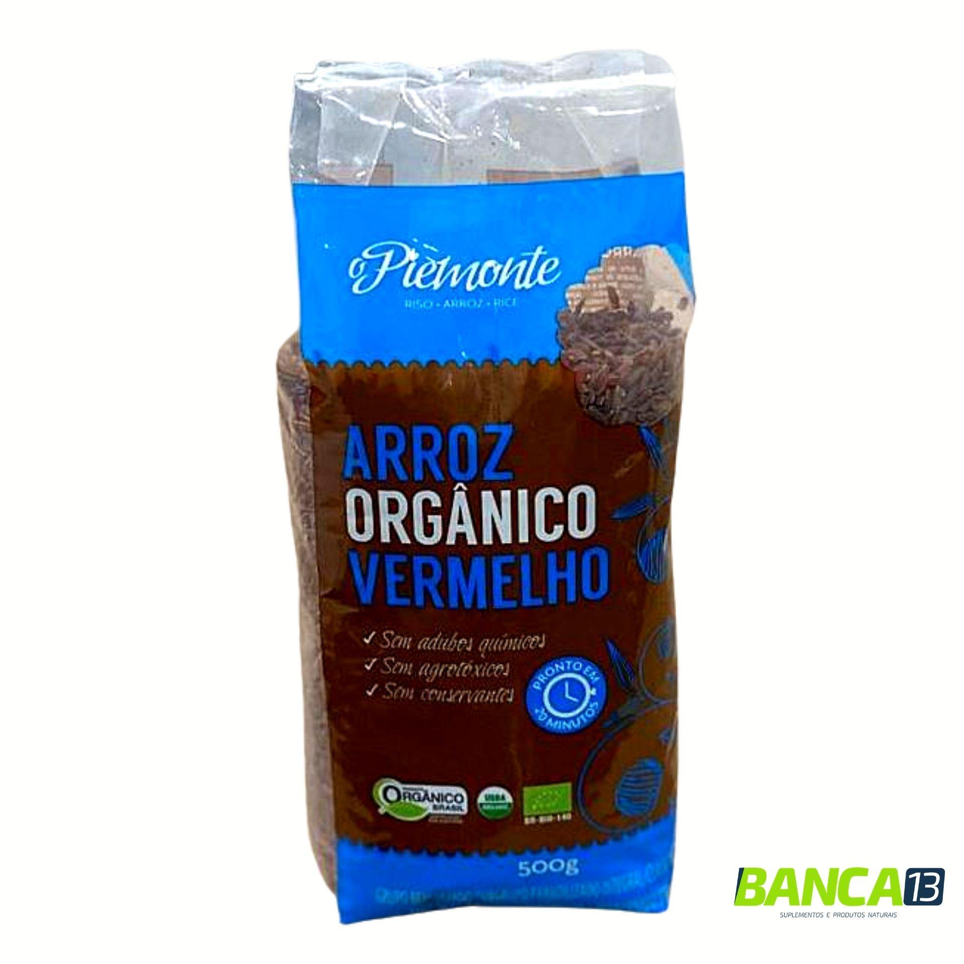 ARROZ ORGÂNICO VERMELHO 500G - PIEMONTE
