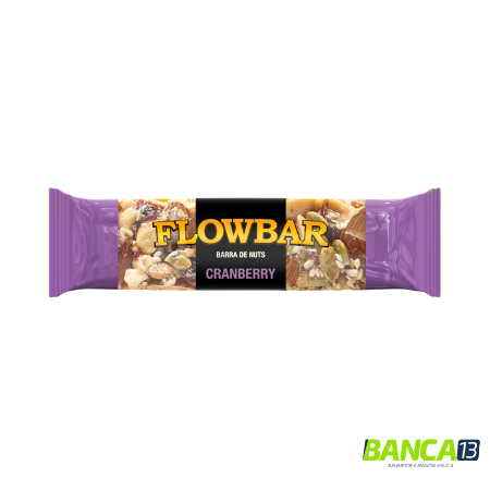 BARRA DE NUTS CRANBERRY 30g - FLOWBAR