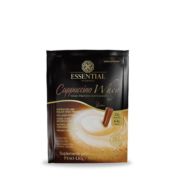 Cappuccino Whey Sachê 32g - Essential Nutrition