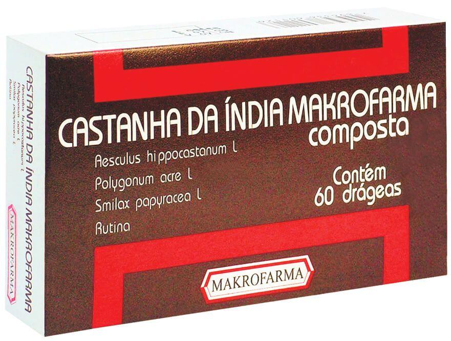 CASTANHA DA ÍNDIA COMPOSTA 60 DRÁGEAS - MAKROFARMA