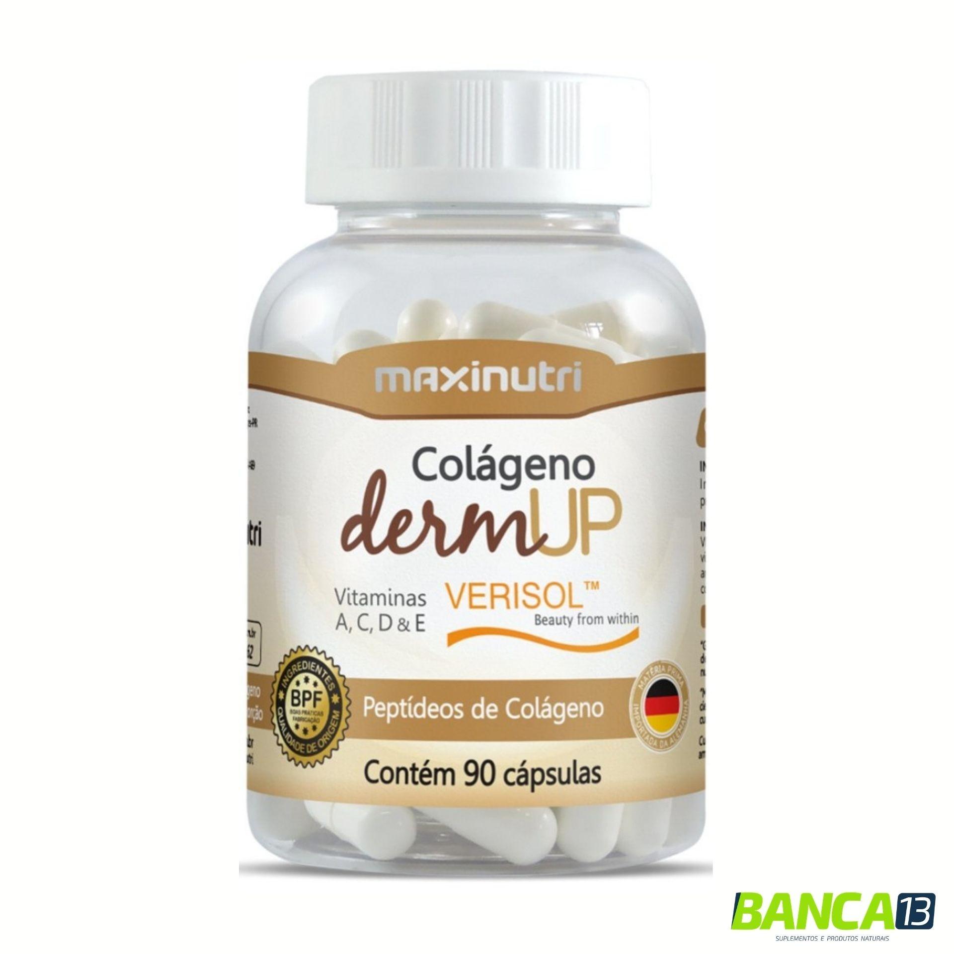 Colágeno DermUp 90 cápsulas Maxinutri
