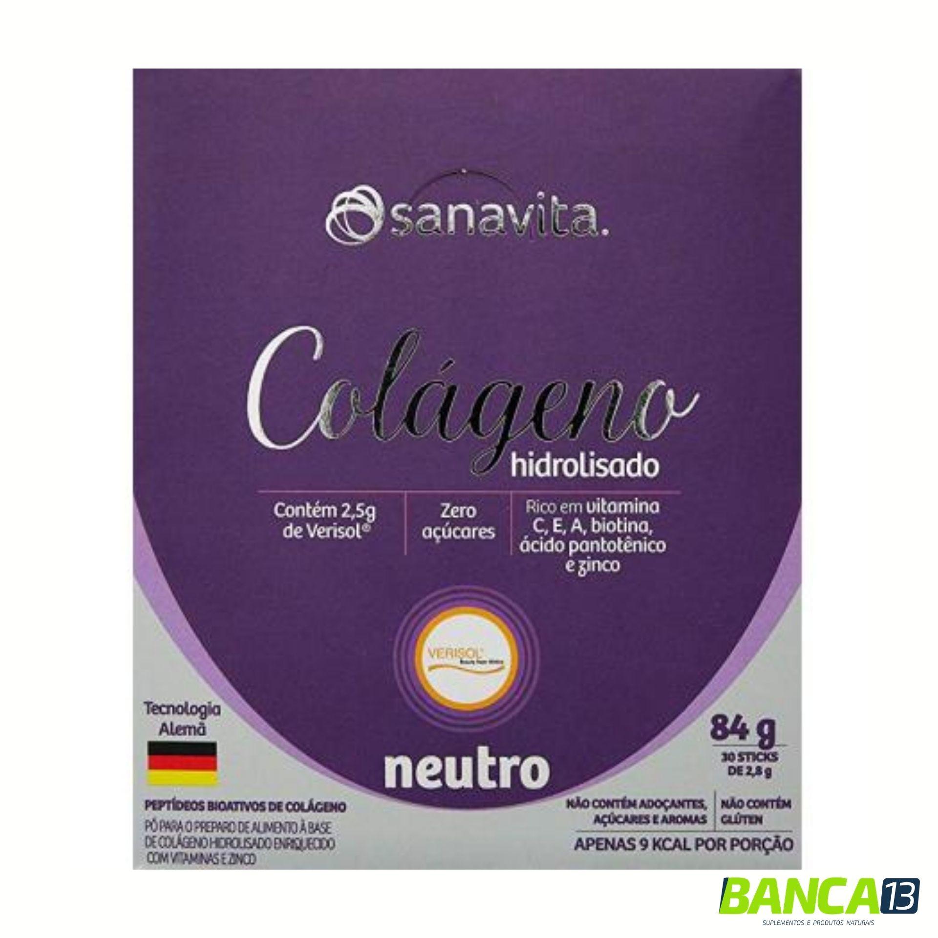 Colágeno Hidrolisado - Verisol - 30 saches - Sanavita