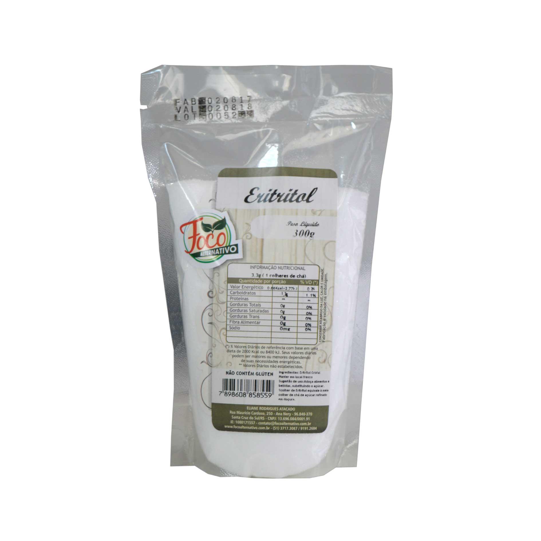 Eritritol - 300g - Foco Alternativo
