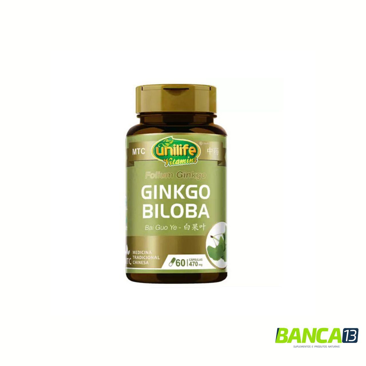 GINKGO BILOBA 60 CÁPSULAS 470MG - UNILIFE