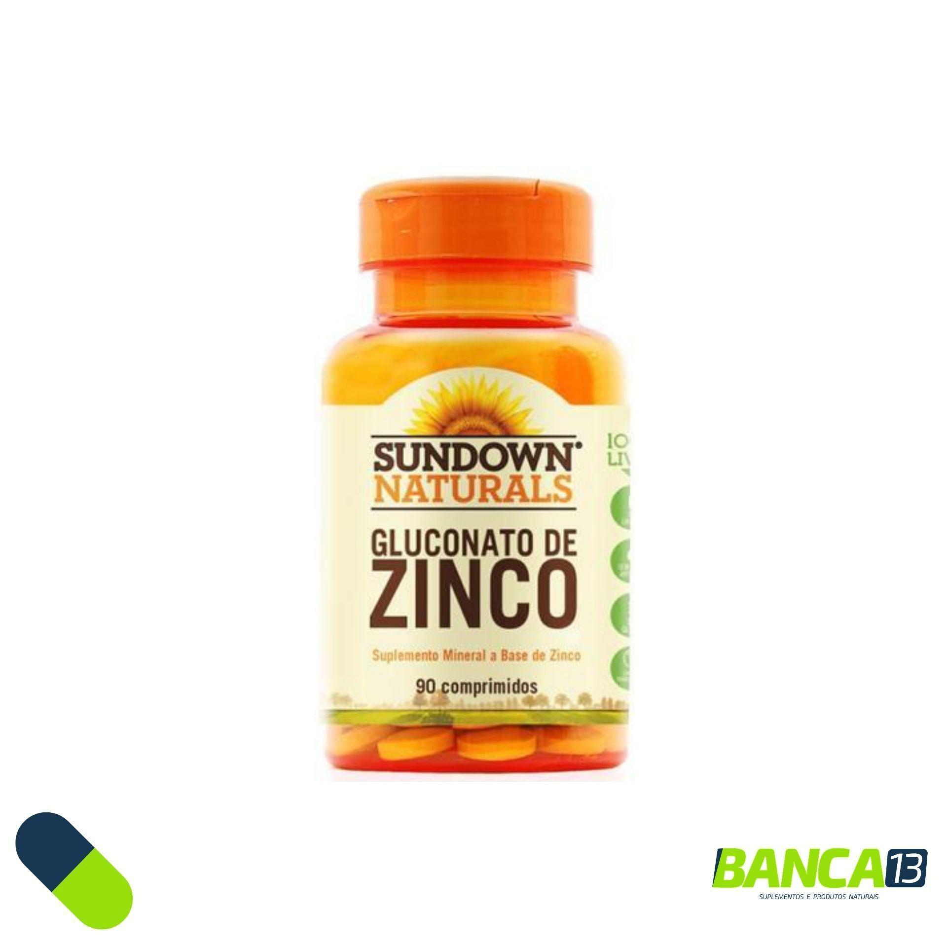 GLUCONATO DE ZINCO 90 COMPRIMIDOS - SUNDOWN NATURALS