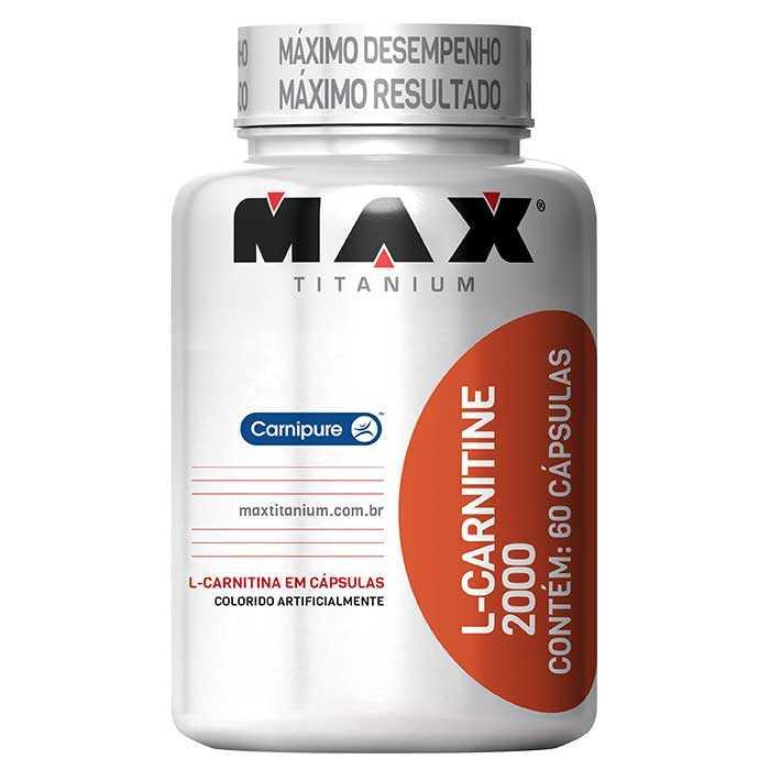 L - Carnitine 2000 em Cápsulas - Max Titanium