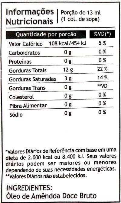 Óleo de Amêndoa Doce 250ml - Pazze