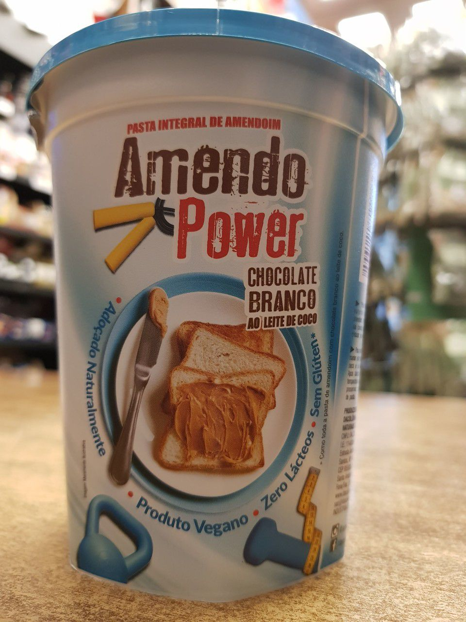 Pasta de Amendoim Chocolate Branco 450g - DaColônia