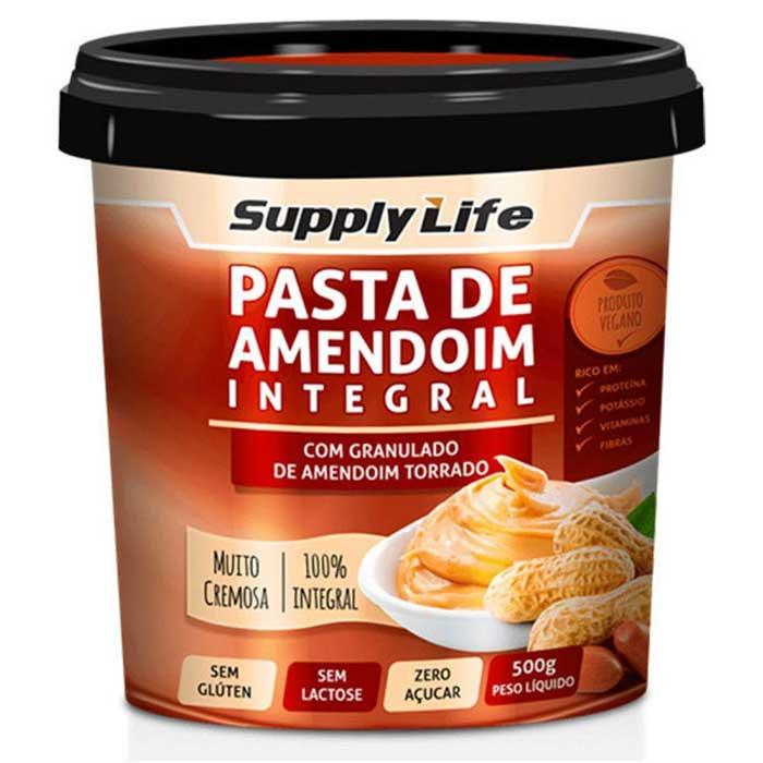 Pasta de Amendoim com Granulado - 500g - Supply Life