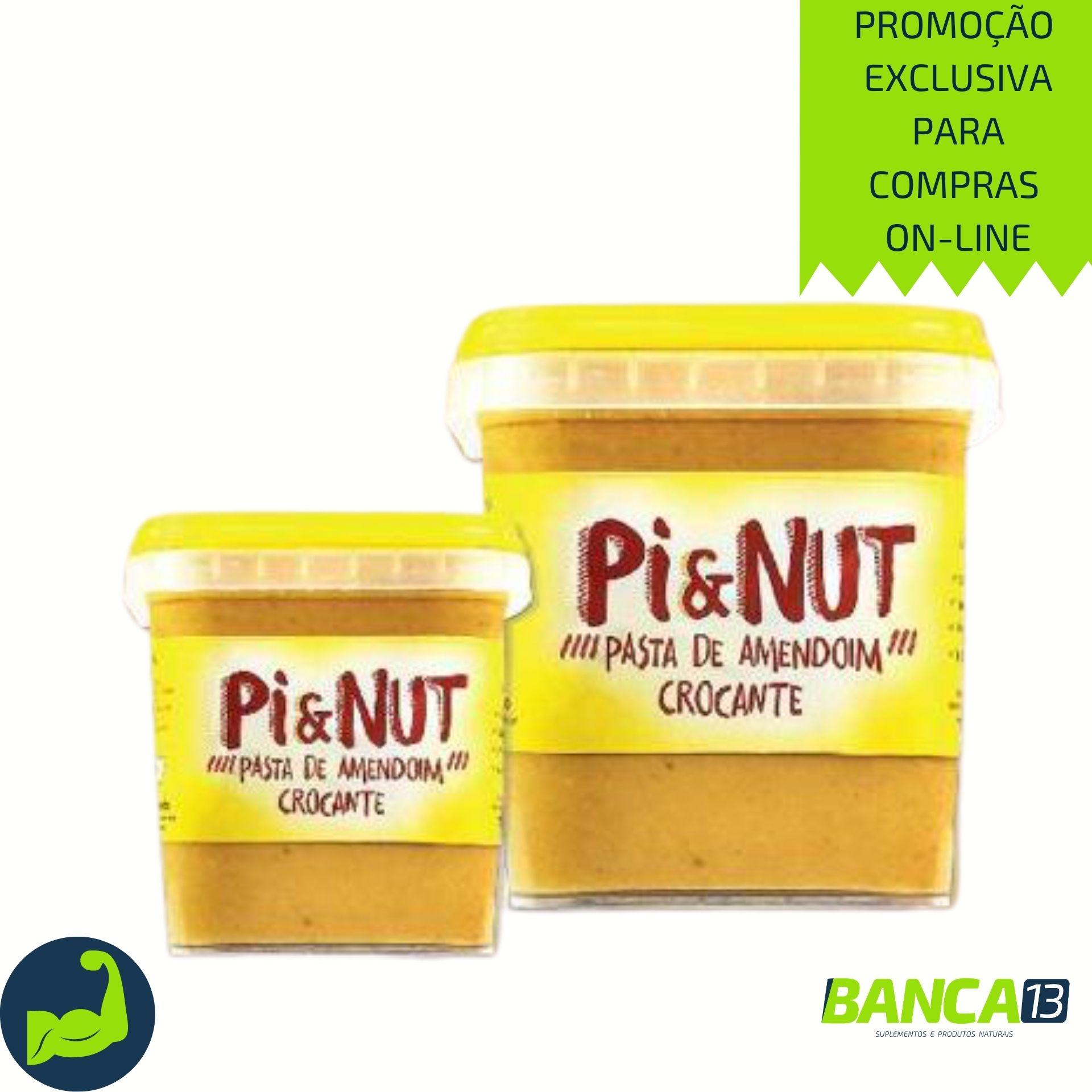 PASTA DE AMENDOIM CROCANTE 1Kg - PI & NUT