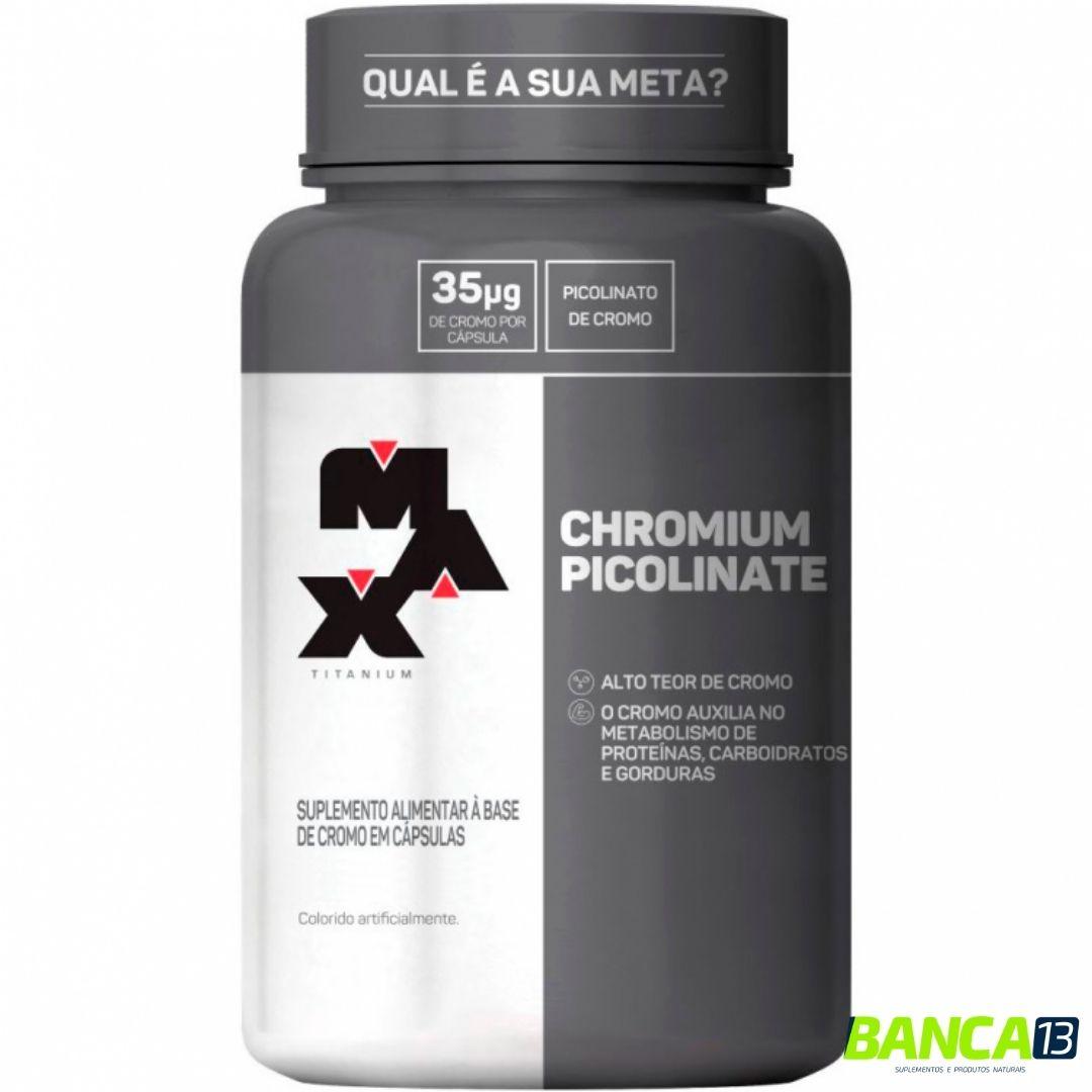 PICOLINATO DE CROMO 120 CAPS - MAX TITANIUM