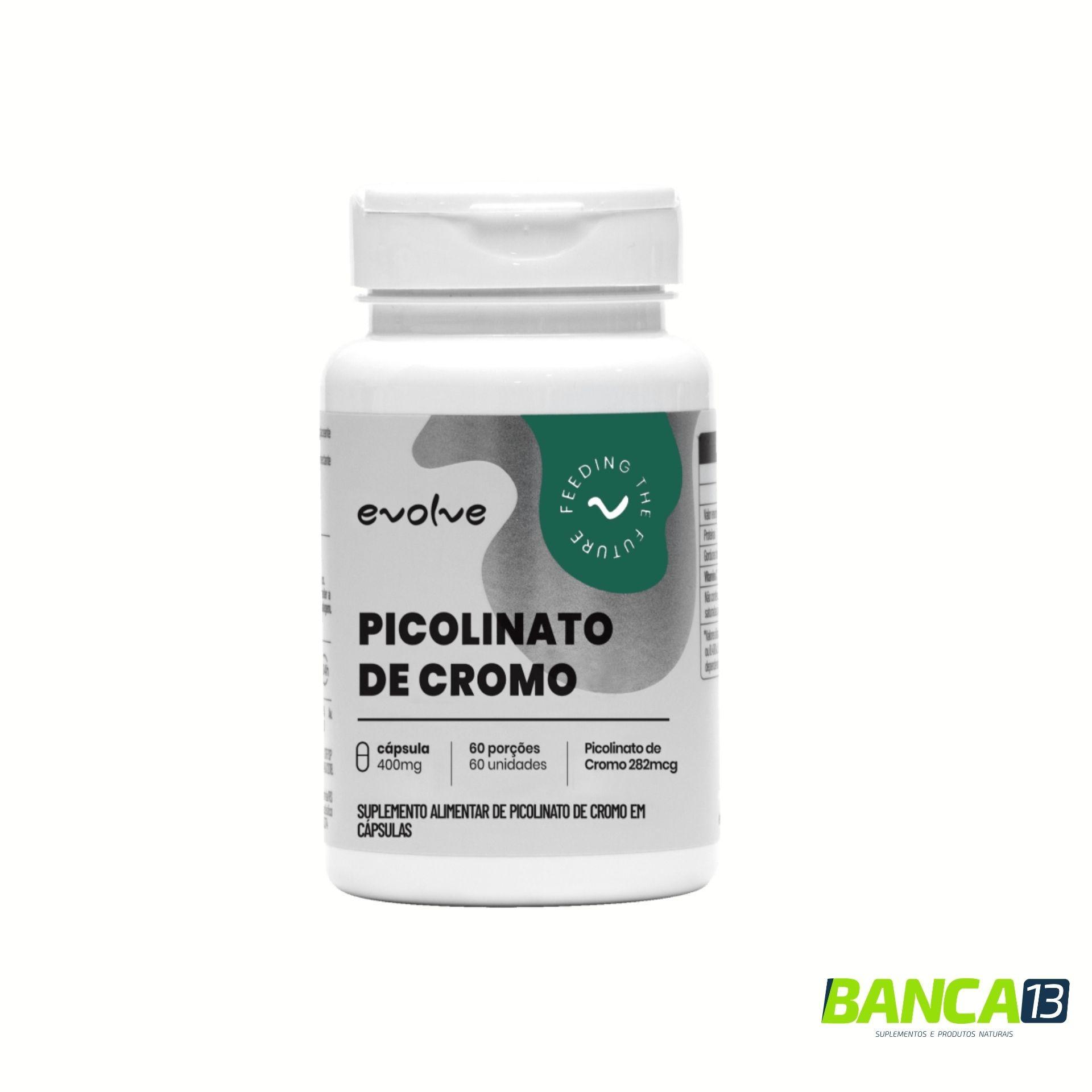 Picolinato de Cromo 60 caps - Evolve