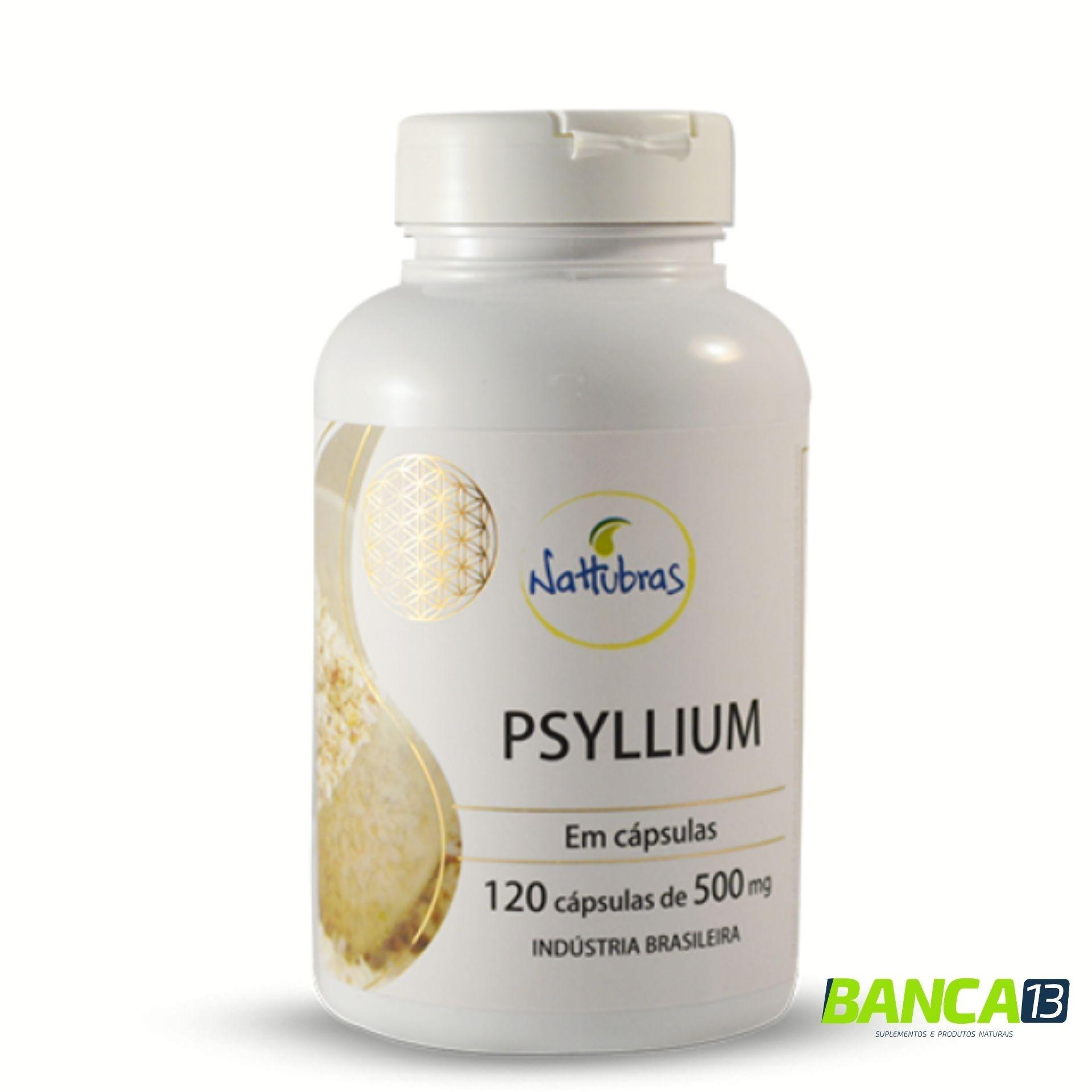 PSYLLIUM 120 cápsulas 500mg - NATTUBRAS