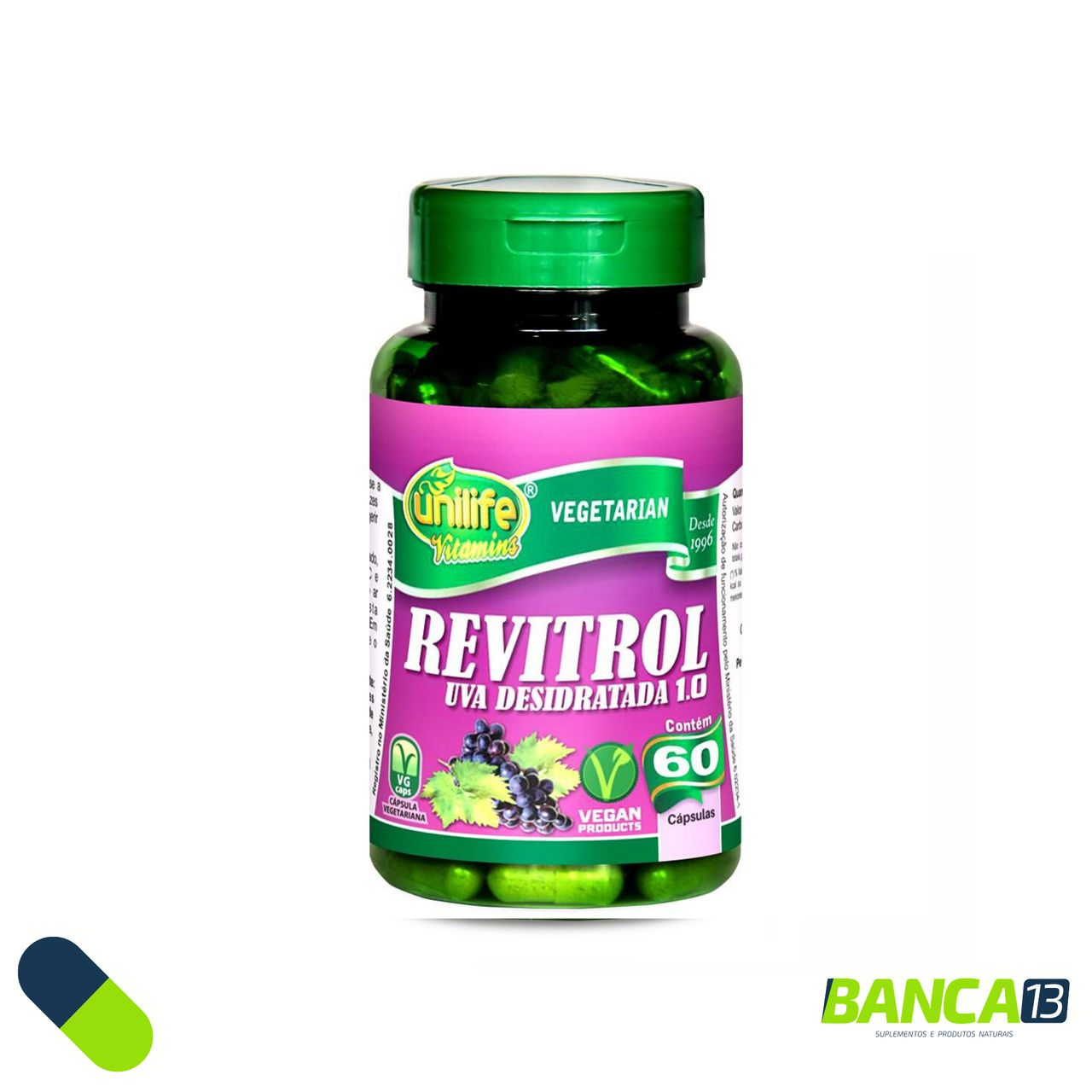 REVITROL 60 CÁPSULAS 500MG - UNILIFE