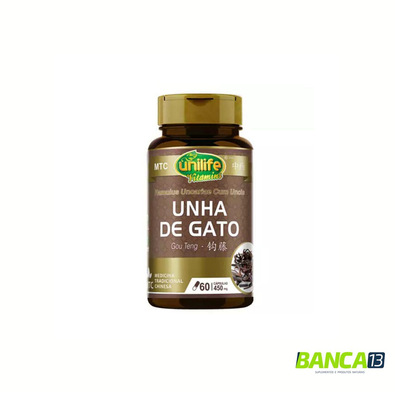 UNHA DE GATO 60 CÁPSULAS 450MG  - UNILIFE