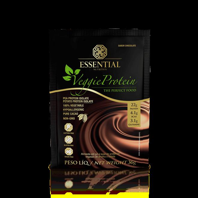 Veggie Protein Cacao Sachê 36g - Essential Nutrition