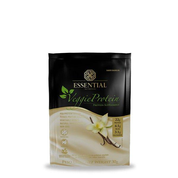 Veggie Protein Vanilla Sachê 30g - Essential Nutrition
