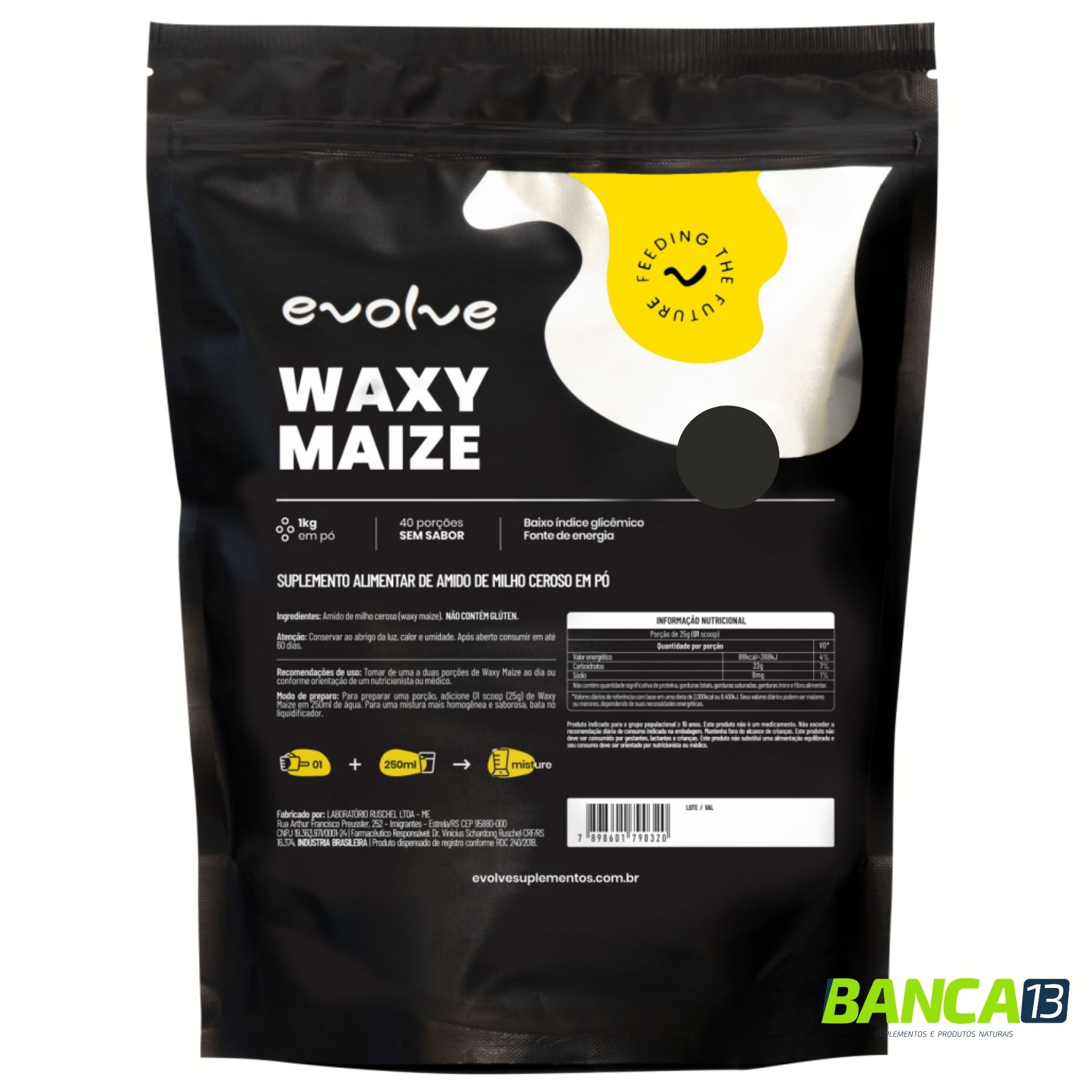 Waxy Maize 1kg Sem Sabor - Evolve