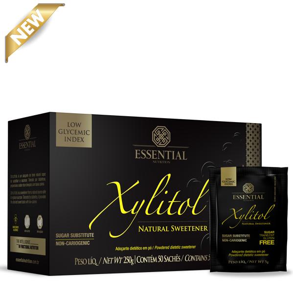 Xylitol em sachês - 50 unidades - Essential Nutrition