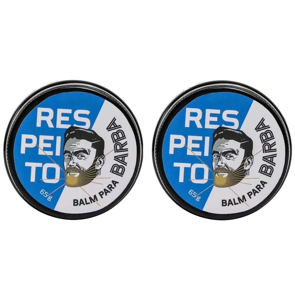 Balm para Barba Hidratante Barba de Respeito - Kit 2 Un
