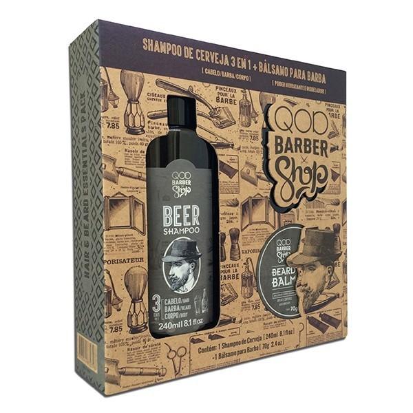 Kit Shampoo de Cerveja + Bálsamo para Barba QOD Barber Shop