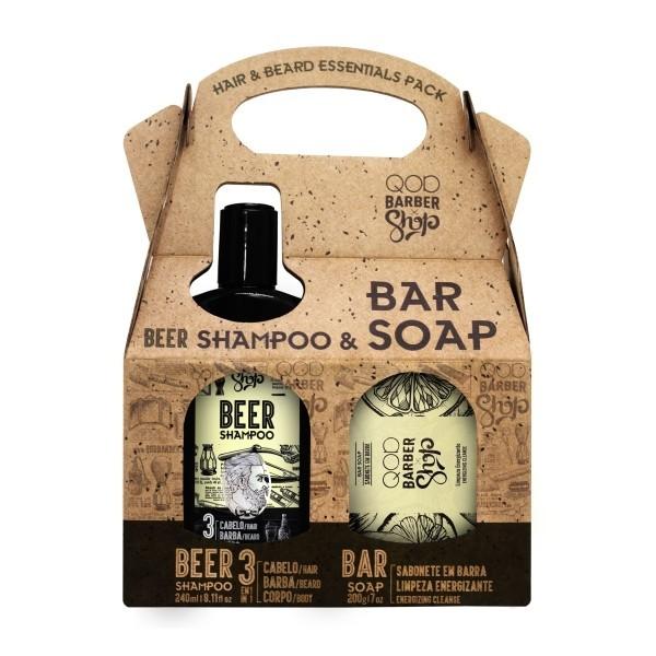 Kit Shampoo de Cerveja + Sabonete Energizante