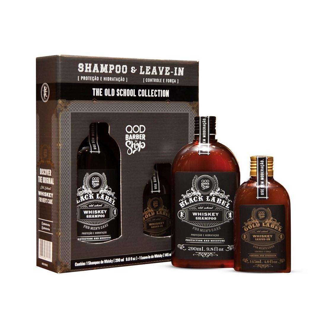 Kit Shampoo Whiskey + Leave-in Whiskey QOD Barber Shop
