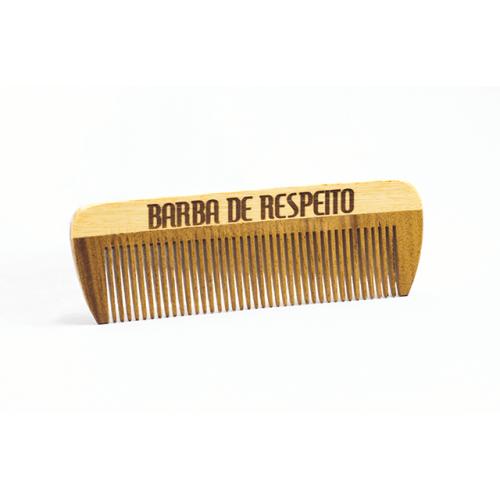 Pente de Madeira de Bolso Barba de Respeito