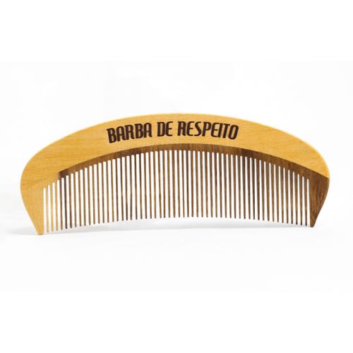 Pente de Madeira para Barba e Cabelo Barba de Respeito