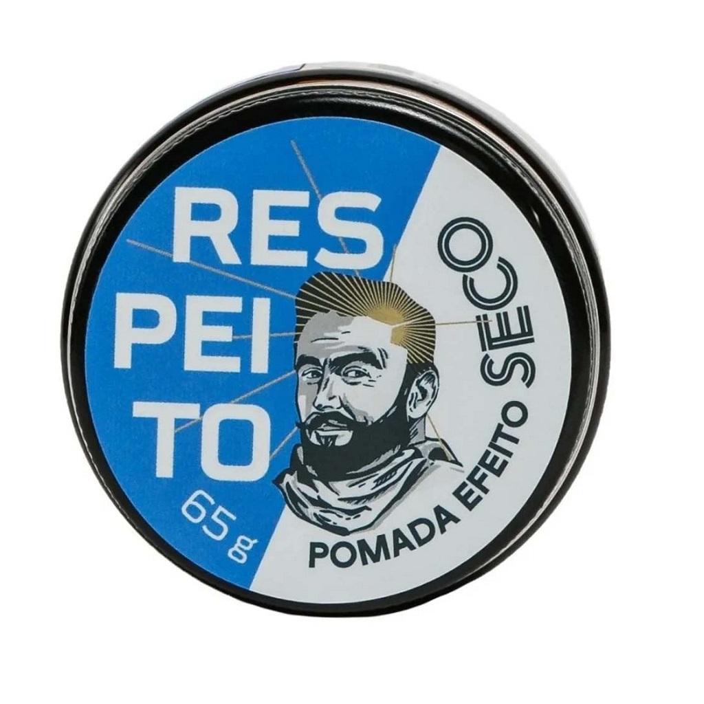 Pomada para Cabelo Efeito Seco Barba de Respeito 65g