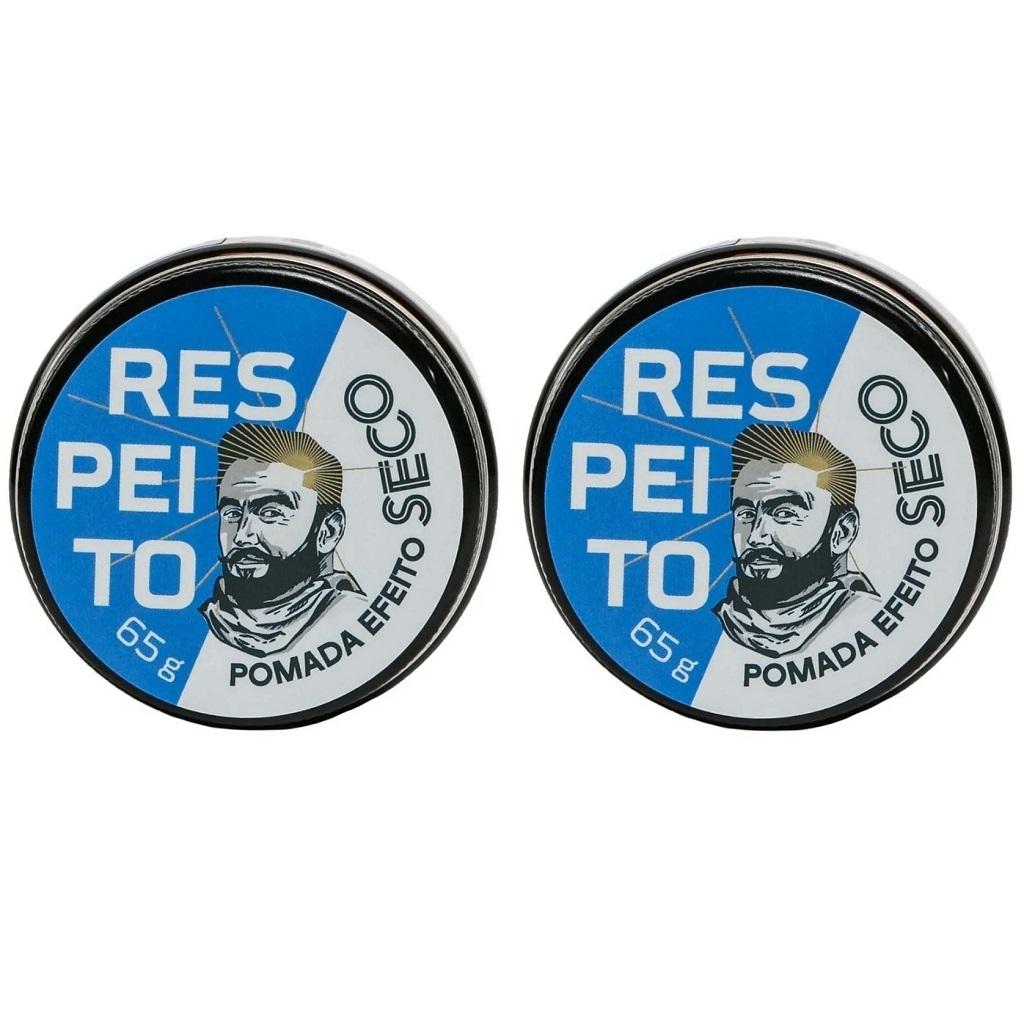 Pomada para Cabelo Efeito Seco Barba de Respeito - Kit 2 Un