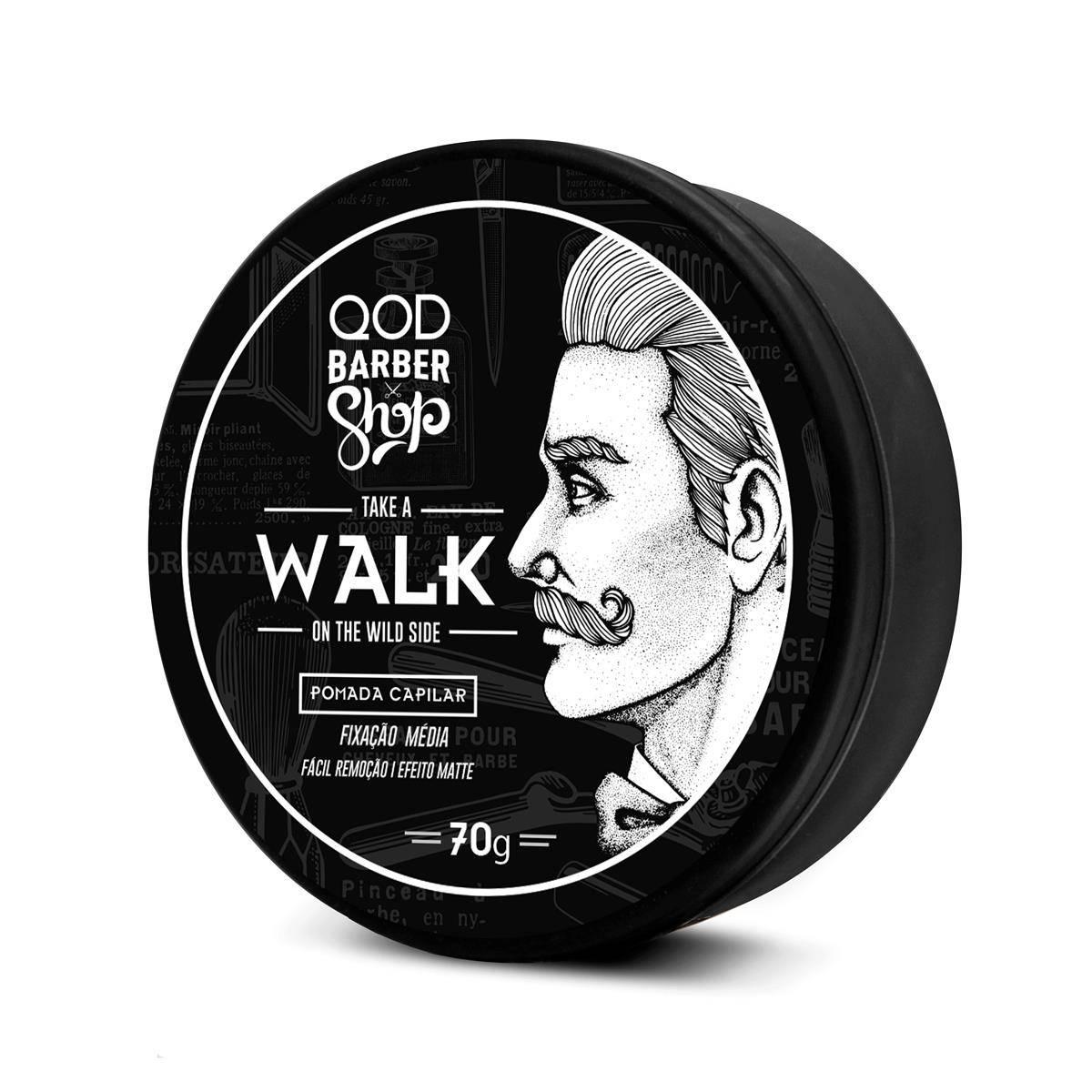 Pomada para Cabelo Walk QOD Barber Shop - 70g