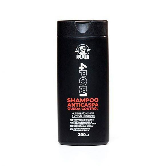 Shampoo Anticaspa Queda Control 4por1 Barba de Respeito - 200mL