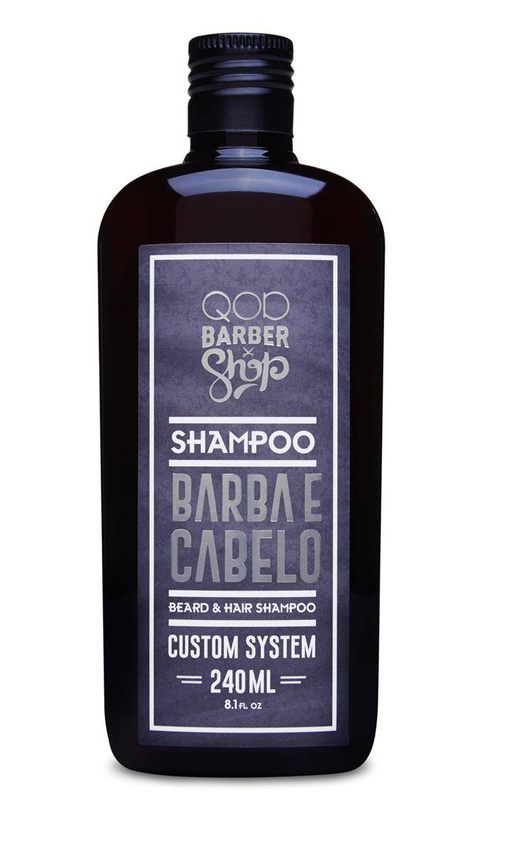 Shampoo Barba e Cabelo QOD Barber Shop - 240mL