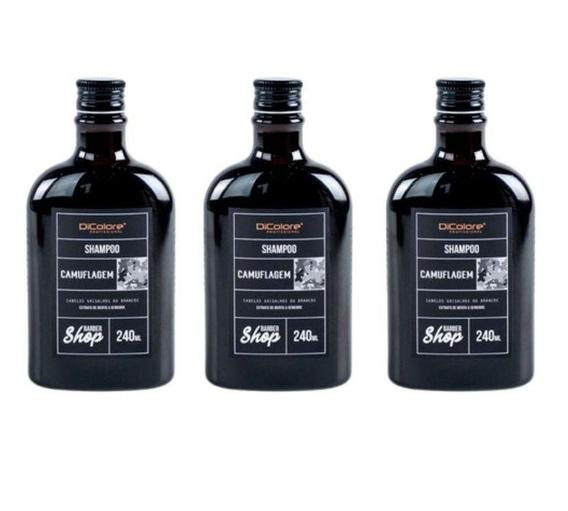 Shampoo Camuflagem Cabelos Grisalhos DiColore - 3 Unidades
