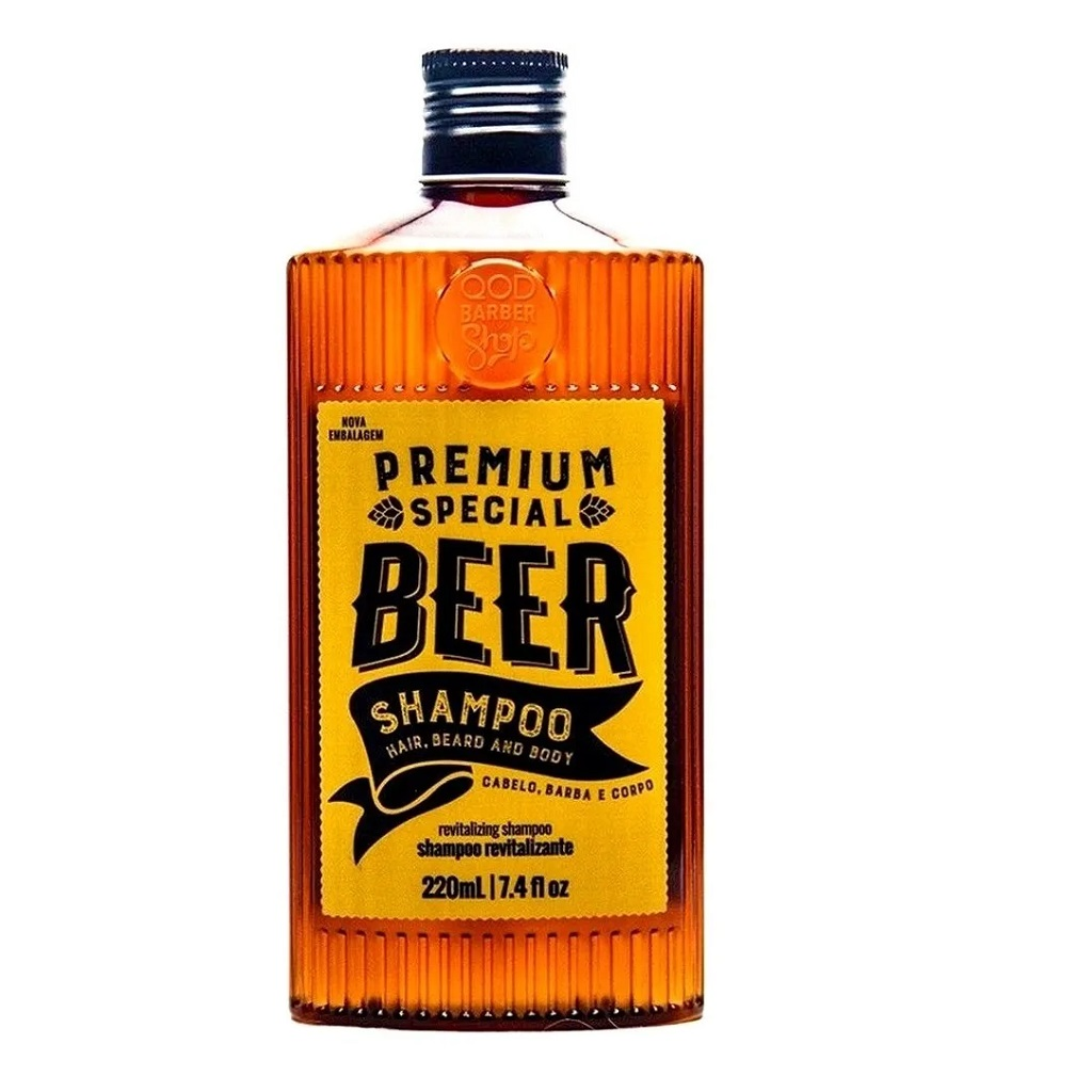 Shampoo de Cerveja Revitalizante Special Beer QOD 220mL