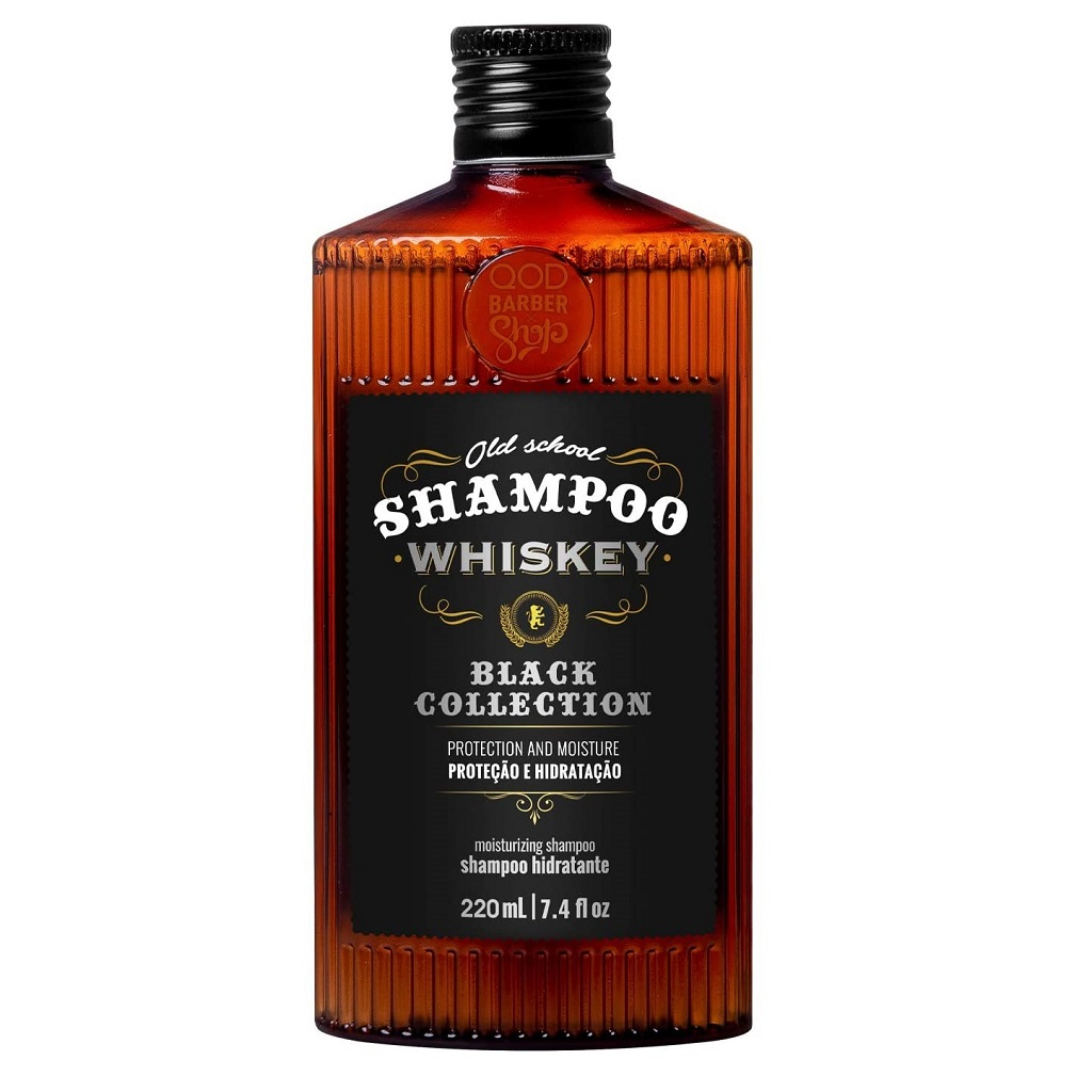 Shampoo Whiskey Hidratação e Proteção QOD Barber 220mL