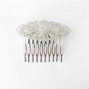 PEINECILLO metal flamenco peineta prateada vintage 7,5cmx6cm