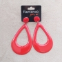 BRINCO flamenco gota alongada vermelho  7 x 4,5cm