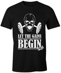 Camiseta Foca no Treino Let The Gains Begin Preta